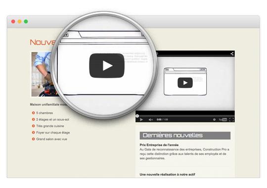 Ajouter une vidéo YouTube - Mon site Primo