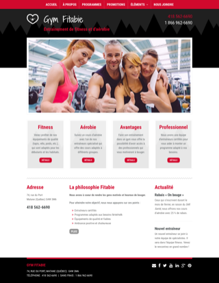 Site Web Go Gym