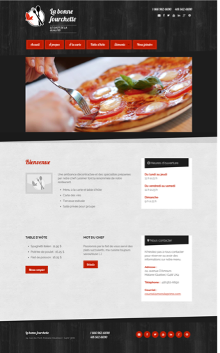 Site Web Resto Pizza