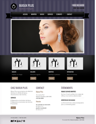 Site Web Bijouterie Classique