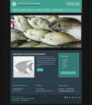 Site Web Lubie Poissonnerie